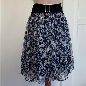 Zara Basic Silk A Line Skirt